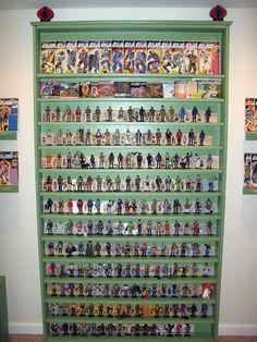 GI JOE FIGURE SHELF HEIGHT - Google Search Vintage Toys 80s, Retro Toys, Gi Joe, Nerd Room, Lego Display, Wall Shelves, Shelf, Toy Rooms, Custom Action Figures