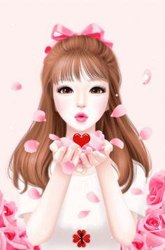 Animated Gif by Hfhfg Gdrgfd Love Is Cartoon, Cute Cartoon Girl, Cute Girl Wallpaper, Disney Wallpaper, Cute Girl Drawing, Cute Drawings, Cute Kawaii Girl, Korean Anime, Lovely Girl Image
