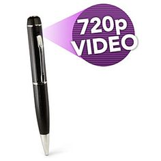 HD Video Camera Spy Pen Spy in HD! Video camera hidden in a classy office pen Records up to 2 hours on one battery Real working pen stores up to of video Clever Gadgets, Spy Gadgets, Electronics Gadgets, Office Gadgets, Pen Store, Pen Camera, Spy Gear, Private Investigator, Wireless Router