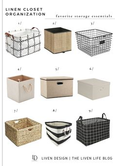 Organize the linen closet with these affordable stylish storage bins and baskets that will work for closets of any size. Find out how I utilize each one in the post. #amazon #linen #closet #organization #diy #home #clean #clutter #how to #bin #basket #closet #storage Closet Storage Bins, Pantry Storage, Small Kitchen Organization, Linen Closet Organization, Room Decor Bedroom, Getting Organized, Decorative Boxes, Closet Essentials, Indoor