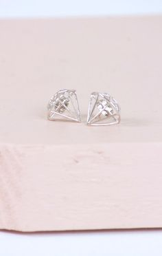 Diamond Earring Silver | Lily