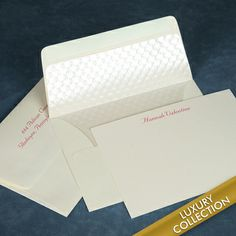 Luxury Valentine Flat Note Card Collection on Triple Thick Stock