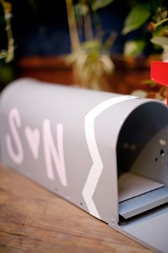 Mailbox for Cards | Britt Rene Photo | See the Wedding on #SMP Weddings:  http://www.stylemepretty.com/2012/10/23/la-wedding-at-marvimon-from-britt-rene-photo/