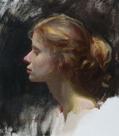 Portrait using Zorn palette