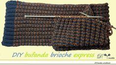 Cómo tejer bufanda de lana con dos agujas brioche express