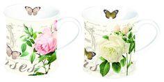 Zestaw 2 kubkówz porcelany NUOVA R2S - DECO Salon || #porcelain #cups
