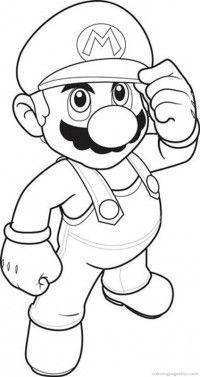 Super Mario Bros Coloring Pages More than 20 pages