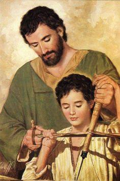 St Joseph Catholic, Catholic Saints, Catholic Art, Religious Art, Religious Pictures, Jesus Pictures, Jesus Father, Christian Images, Mary And Jesus