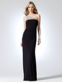 Mesh backed one shoulder strap Dress with sequin, bead, and gem stones [#O8011J04960861] - $218.00 : Crazeparty.com, Dare to be Different!