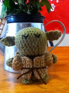 Crochet Yoda Baby Rattle