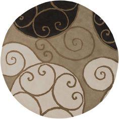 Surya - Surya Athena ATH-5111 Brindle Area Rug #87963, 6' round for foyer (free rug pad and shipping).