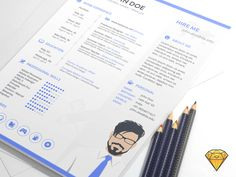Resume Template Sketch on UI Space