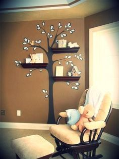 Absolutely genius!  Great for a unisex nursery - just add light blue or pink as needed.