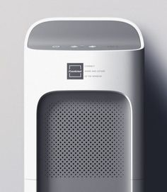 Check this out on leManoosh.com: #Air purifier #Electronics #Grey #Grid #Vent
