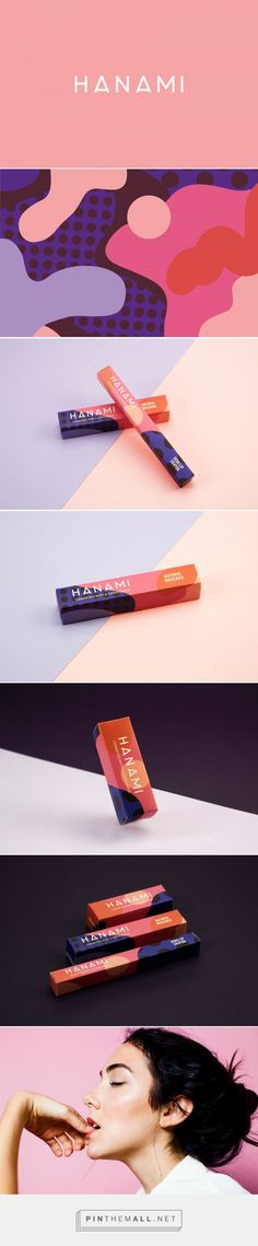 HANAMI on Packaging of the World - Creative Package Design Gallery - created on Brand Identity Design, Branding Design, Logo Design, Graphic Design, Cosmetic Packaging, Brand Packaging, Cosmetic Design, Packaging Design Inspiration, Fashion Branding
