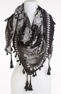 Accessory Street Floral Print Scarf available at #Nordstrom