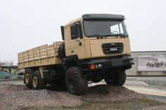 The KrAZ is a new Ukrainian flatbed truck. It was specially developed to meet military needs. Utility Truck, Army Vehicles, Inventions, Monster Trucks, Military Weapons, Tobias, Cars, History, Buses