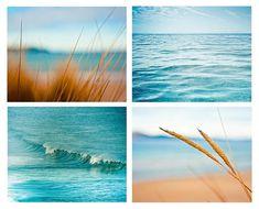 Coastal prints set 8x10 8x12 8x8 nautical decor ocean photography beach surf abstract water waves ripples blue golden teal wall art summer via Etsy