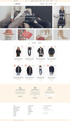 Unisex Clothing Online Store #OpenCart #webtemplate #themes #business #responsive #template