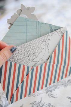 DIY Envelope Tutorial from the Story Teller Collection. #cratepaper #tutorial #envelope