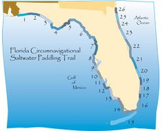 #Florida Circumnavigational Saltwater #Paddling Trail (The CT) Map #kayaking