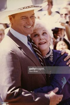 Larry Hagman and his mother, actress Mary Martin attend Larry Hagman's Hollywood Walk of Fame Ceremony at Hollywood Walk of Fame on September 21, 1981 in Hollywood, California.