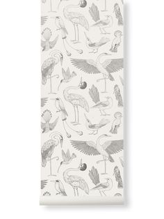 The nature-inspired world of British illustrator Katie Scott unfolds on our latest wallpaper designs that display the untamed beauty of birds. Latest Wallpaper Designs, Latest Wallpapers, Family Dining Rooms, Bird Wallpaper, Into The Woods, Burke Decor, Cockatoo, Repeating Patterns, Designer Wallpaper