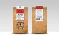 Packaging for great coffee - Alfie & Co