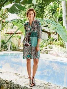 Schnittmuster: Tunikakleid mit Seitenschlitze - Sommerkleider - Kleider - Damen - burda style