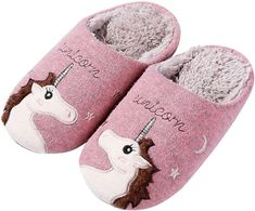 Unicorn Kids, Cute Unicorn, Blue Flats, Brown Leather Boots, Fuzz, Animals For Kids, Kids House, Memory Foam, Gifts For Kids