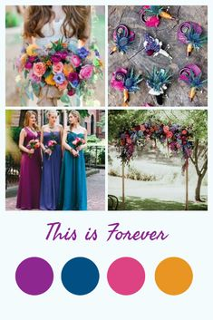 Everything you need from inspiration to favor and decor ideas you need to pull off the beautiful bright jewel tone wedding Bright Wedding Colors, Summer Wedding Colors, Wedding Color Schemes, Spring Wedding, Wedding Themes, Wedding Favors, Wedding Decorations, Wedding Ideas, February Wedding Colors
