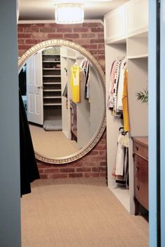 10 Beautiful Real-Life Closets of All Sizes - I have a poorly lit slanted little walk in and this is what I wish it was like!!
