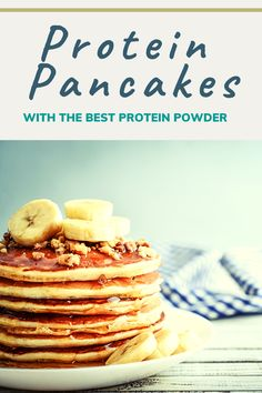 Healthy Protein Pancakes, Protein Powder Pancakes, High Protein Breakfast, Healthy Breakfasts, Healthy Breakfast Recipes, Clean Eating Recipes, Breakfast Ideas, Healthy Eating, Easy Desserts