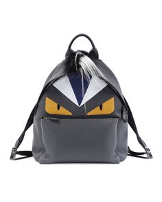 Monster Backpack with Fur Crest by Fendi at Neiman Marcus.-