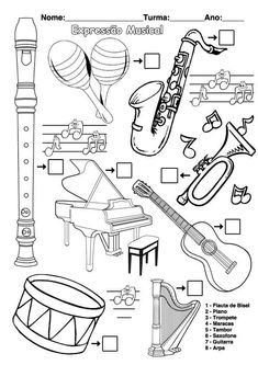 musical instruments 20 super ideas for music instruments worksheet 20 super ideas for music instruments worksheet Preschool Music, Music Activities, Teaching Music, Music Artwork, Art Music, Music Worksheets, Music School, Elementary Music, Music For Kids