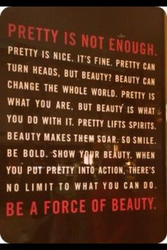 Beauty is more than a pretty face