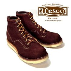 WESCO BOOTS 現貨歡迎到店裡選購! 或者上網購買 - http://mansway.co/category-7/wesco-boots