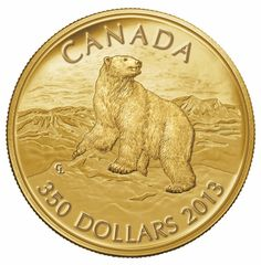 Royal Canadian Mint 2013 $350 Pure Gold Coin - Iconic Polar Bear $2,799.95