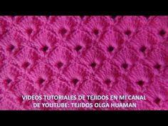 punto abanico tejido a crochet - YouTube