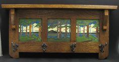 Coat rack with Motawi tiles--Change wood to Cherry, longer length