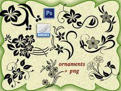 Кисти для Фотошопа - Цветочные узоры