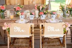 Burlap and Lace Wedding Chair Decor | Mikkel Paige Photography on @eld_lauren via @aislesociety