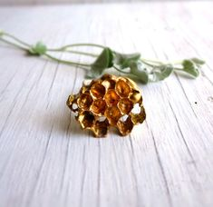Honeycomb Ring, Geometric Jewelry, Beehive Honey Comb, Golden Honey Bronze and Sterling Silver Bee Wasp on Etsy, $125.17 CAD