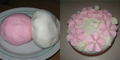 marcipan z marshmallow Marshmallow Fondant, Gum Paste Flowers, Chocolate Decorations, Icing, Cake Decorating, Food And Drink, Pudding, Cupcakes, Sweets