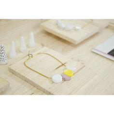 « Sagu Yellow » pedrusco.com #ceramic #handmade #artesania #jewelry #pedruscojewelry #slowfashion