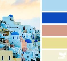 The Lab on the Roof: 11 Greek Summer Color Palettes Summer Color Palettes, Summer Colors, Colour Pallette, Colour Schemes, Colour Combinations, Design Seeds, Colour Board, World Of Color, Color Stories