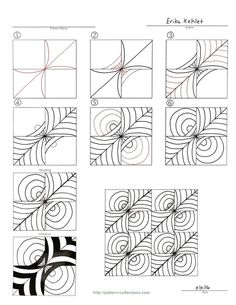 Zentangle pattern                                                                                                                                                      More