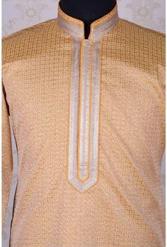 Best ethnic men's Kurta pajama, Cotton Kurta, Kurta for men at Samyakk Mens Fashion Wear, Men Wear, Neck Lines, Gents Kurta, Guayabera Shirt, African Dresses Men, Mens Kurta Designs, Muslim Dress, Front Design