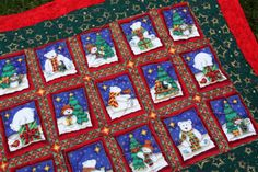 Christmas Quilted Table Topper or Runner Penguins by PingWynny, $30.00