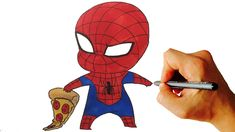 How to Draw Spiderman Chibi From Marvel Characters Easy Step by Step Vid...